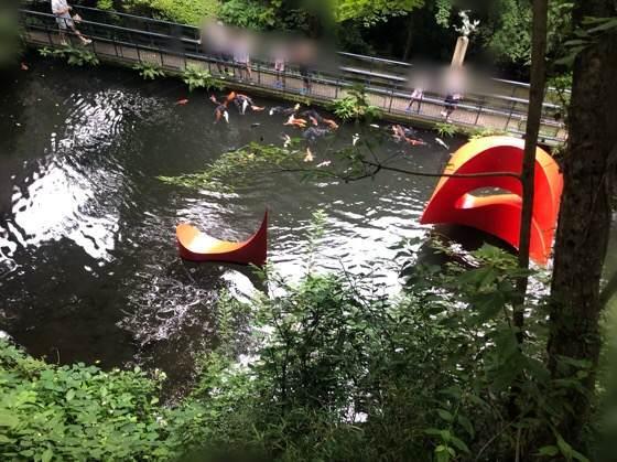 箱根彫刻の森美術館の浮かぶ彫刻3の鯉