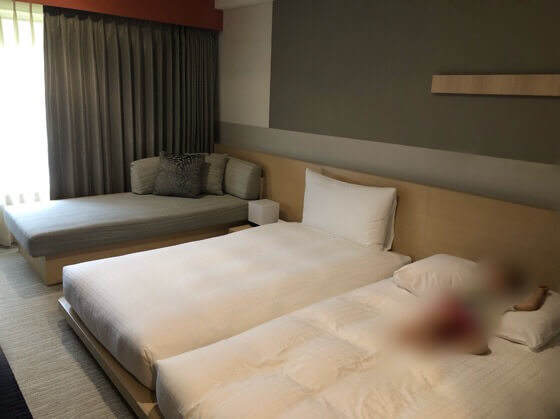 箱根強羅にあるリゾーピア箱根の20.7平米のモダンツインルーム