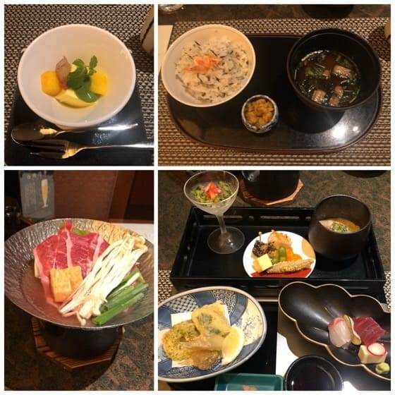 箱根強羅にあるリゾーピア箱根の日本料理樹林の夕食メニュー