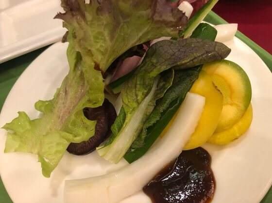 箱根強羅にあるリゾーピア箱根の朝食ビュッフェでおいしかった生野菜