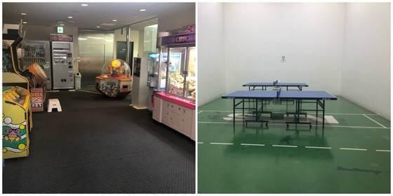 箱根強羅にあるリゾーピア箱根の卓球とゲームセンター