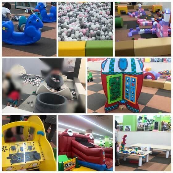ファンタジーキッズリゾート港北店のミルキッズ広場の遊具