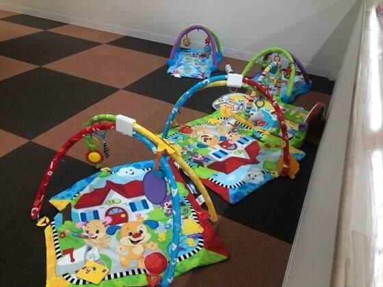ファンタジーキッズリゾート港北店のミルキッズ広場にある赤ちゃん用の遊具
