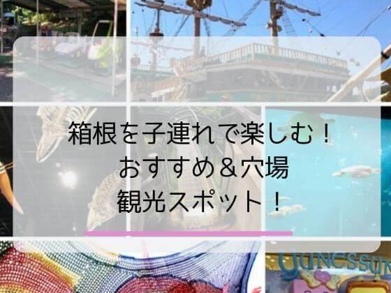 箱根の子連れにオススメの観光スポットと穴場の観光スポット