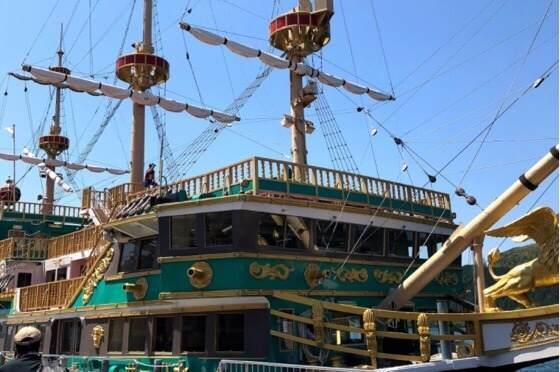 箱根の芦ノ湖で乗れる海賊船