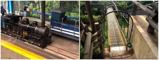 大井松田にある西平畑公園の滑り台とミニSL