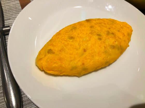 グランドニッコー東京台場のガーデンダイニングで食べたオムレツ