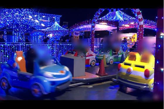 よみうりランドで3歳の息子が乗ったスピンドライブ