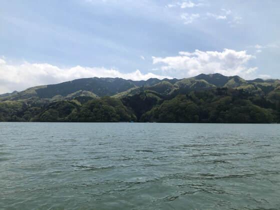 相模湖の景色