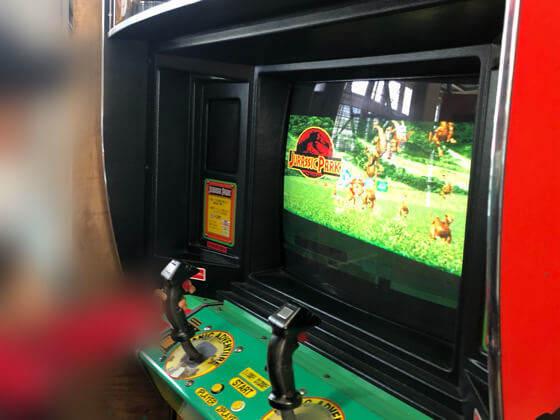 相模湖公園にあるゲームセンターのジュラシックパーク