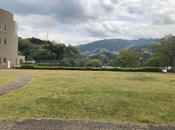 相模湖公園にある芝生の広場