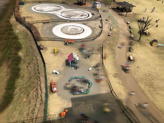 あいかわ公園のふわふわドームと子ども広場