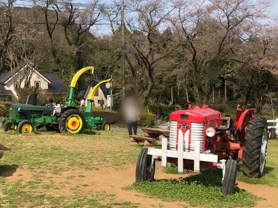 服部牧場のトラクター