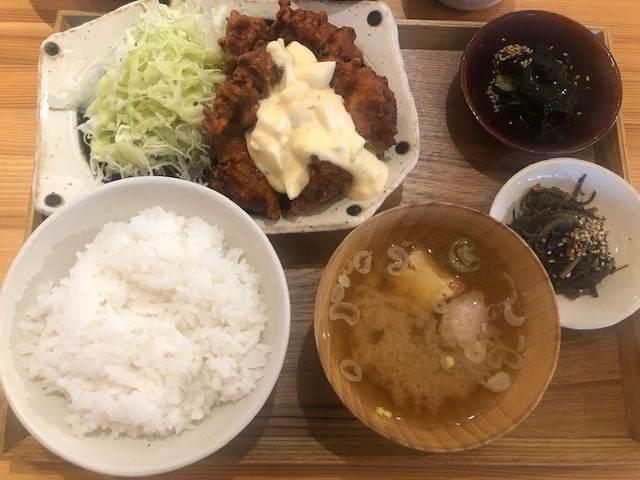 南足柄の道の駅の金太郎のふるさとにあるふるさと食堂の唐揚げ定食
