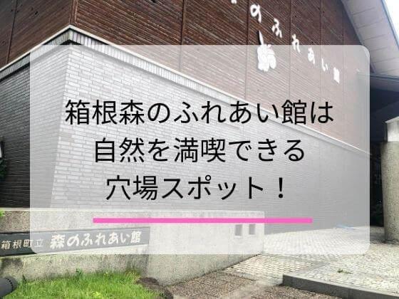 箱根の森ふれあい館についての記事のアイキャッチ画像