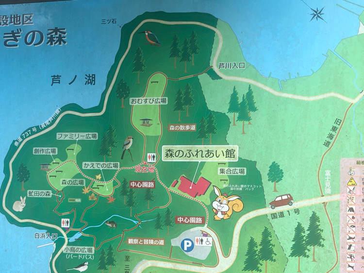 箱根やすらぎの森の地図