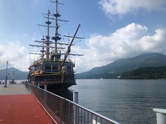 箱根の海賊船