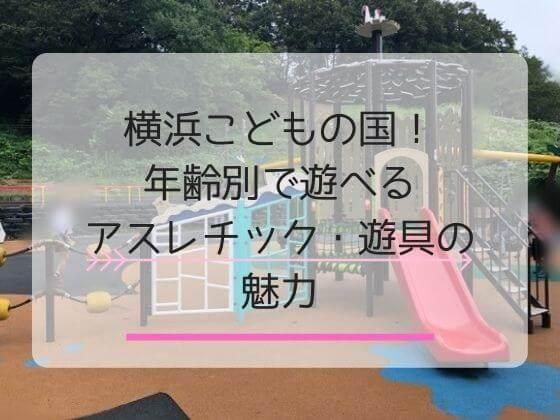 横浜こどもの国のアスレチックや遊具を解説する記事のアイキャッチ