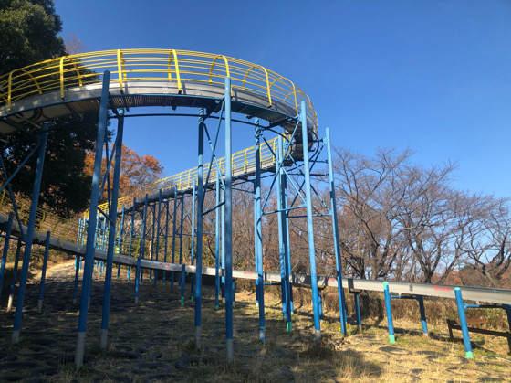 横浜こどもの国にある110mローラー滑り台