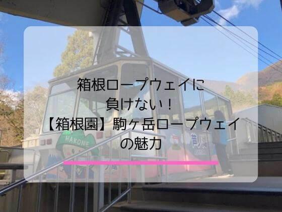箱根園にある駒ヶ岳ロープウェイの魅力についての記事のアイキャッチ