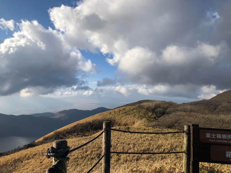 箱根園にある駒ヶ岳ロープウェイの山頂からの景色