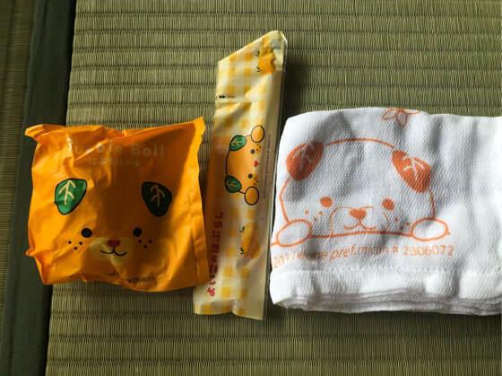 ベネフィットステーション箱根宮城野でもらった子どものアメニティ