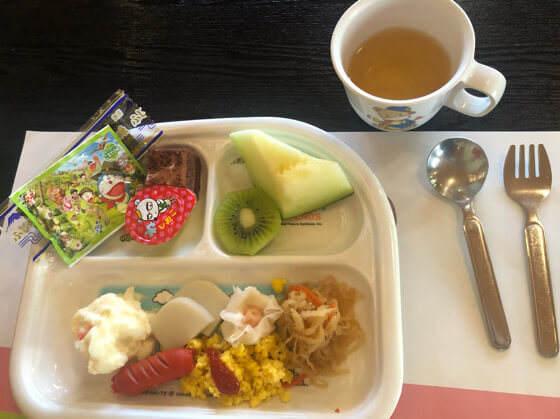 ベネフィットステーション箱根宮城野の子どもの朝食