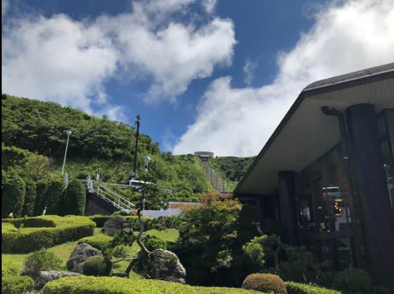 熱海・箱根の十国峠のケーブルカーの線路