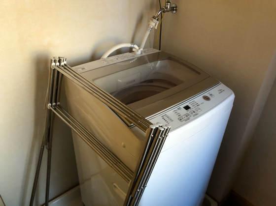 清泉寮デラックスコテージにある洗濯機