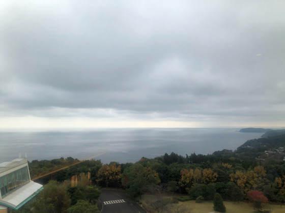 ヒルトン小田原の客室から見える相模湾