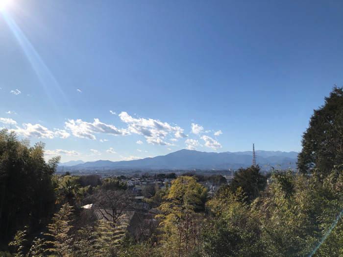 座間谷戸山公園の伝説の丘からみた風景