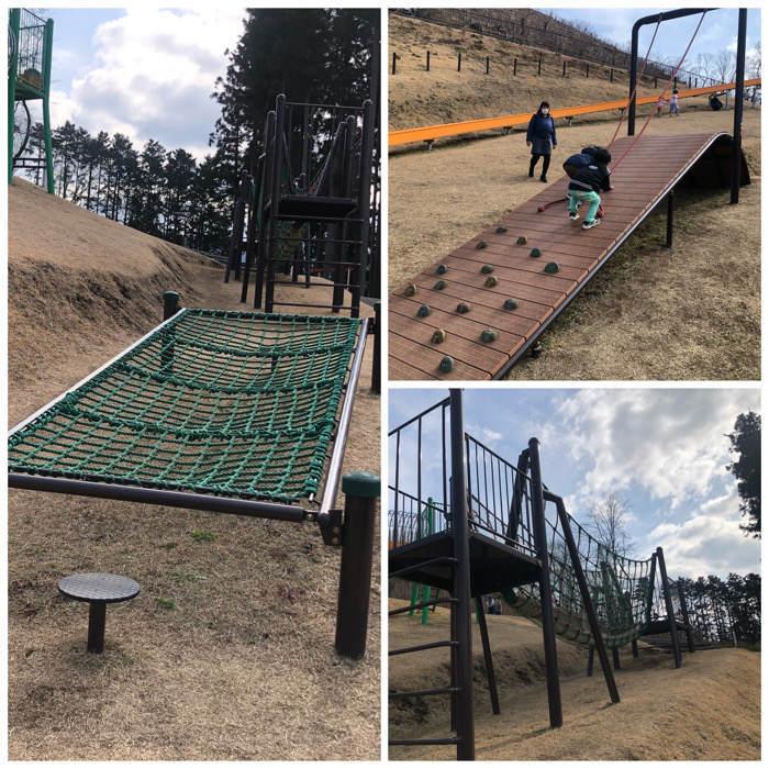 山北つぶらの公園にある子どもの複合遊具