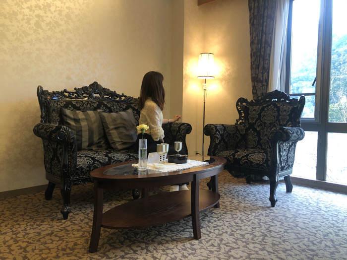 箱根にあるホテルマイユクール祥月の展望風呂付部屋