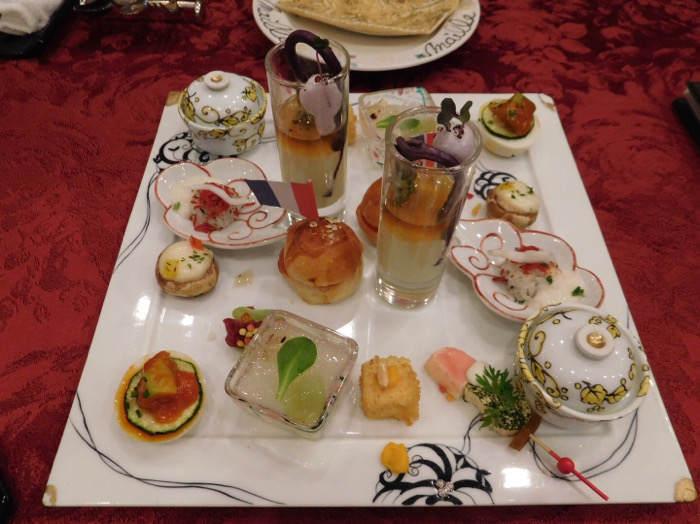 箱根にあるホテルマイユクール祥月の前菜