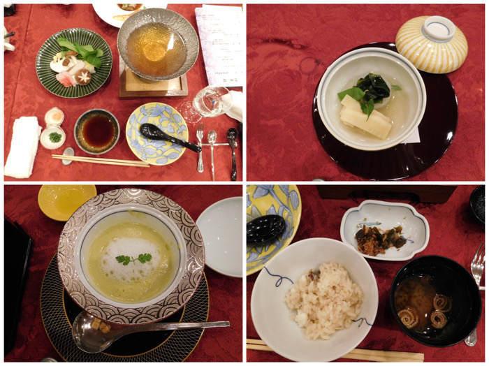 箱根にあるホテルマイユクール祥月の夕食メニュー