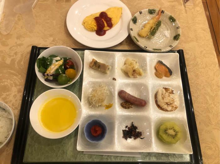 箱根にあるホテルマイユクール祥月の朝食ビュッフェ