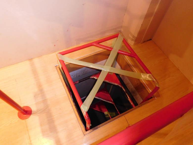 小田原にある鈴廣かまぼこの里のキッズスペースの階段