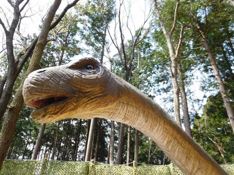三島スカイウォークにある恐竜アドベンチャーにいるプラキオサウルス