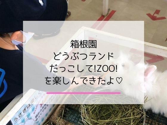 箱根園「どうぶつランドだっこして!ZOO!」に4歳の子連れで遊びに行った感想の記事のアイキャッチ画像