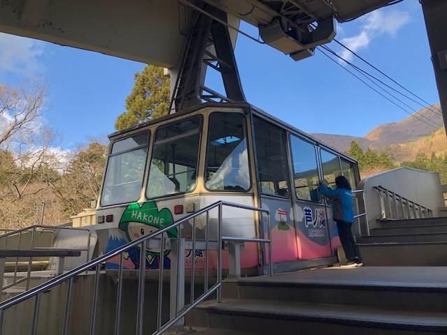 箱根園の駒ヶ岳ロープウェイ