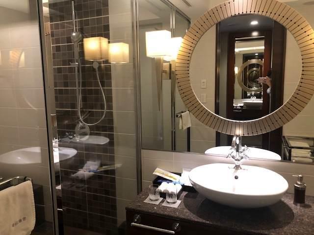 エクシブ箱根離宮のスタンダードグレードの部屋の洗面台
