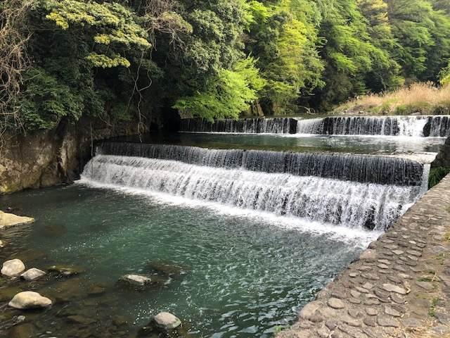 箱根湯本を流れる早川