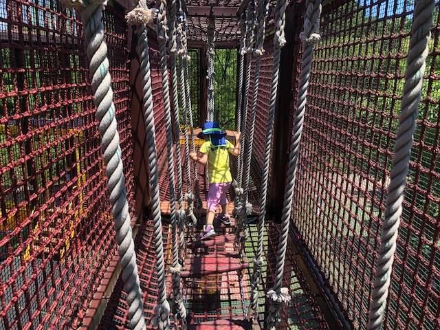ズーラシアにある遊具のアスレチックのネット