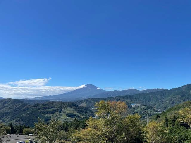 山北つぶらの公園からみえる富士山