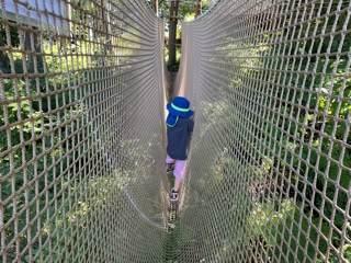 山北つぶらの公園のネットの遊具