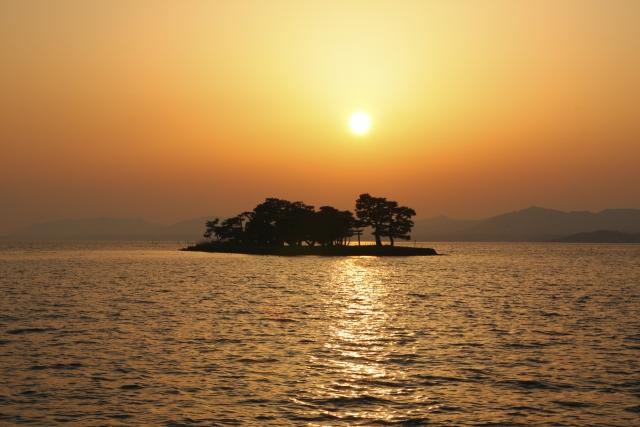 松江 宍道湖の夕日