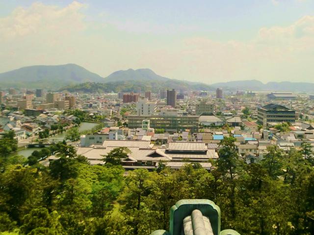 松江城 最上層からの眺め