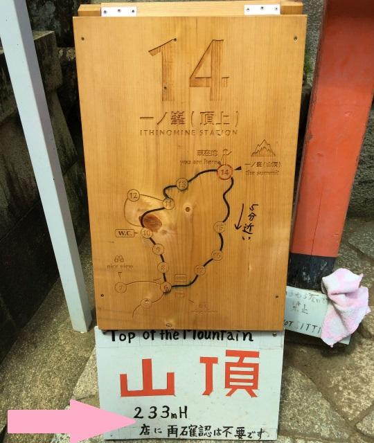 伏見稲荷大社の山頂