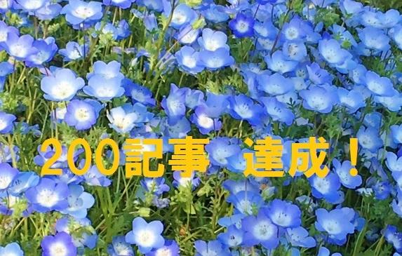 200記事達成