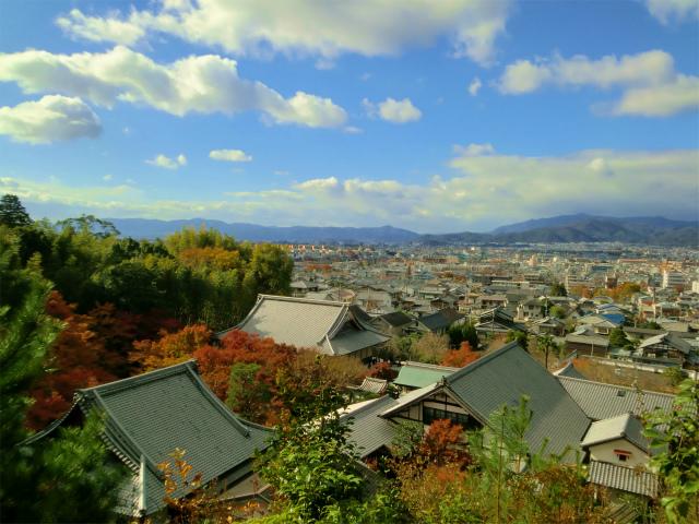 圓光寺の山頂からの景色